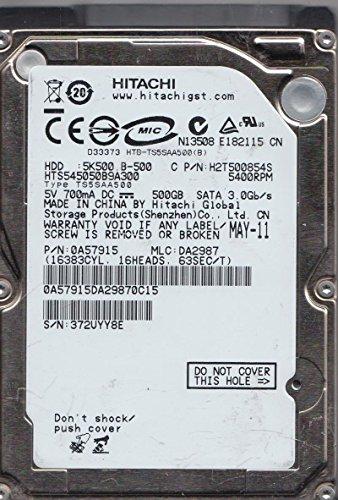 HTS545050B9A300, PN 0A57915, MLC DA2987, Hitachi 500GB SATA 2.5 Hard Drive