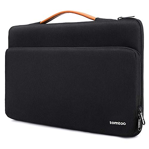 - tomtoc 360 Protective Laptop Carrying Case for 15 Inch New MacBook Pro with Touch Bar A1990 A1707, Acer HP Dell Chromebook 14, 14 Inch ThinkPad X1 Yoga (1-4th Gen) and T-Series, Notebook Bag
