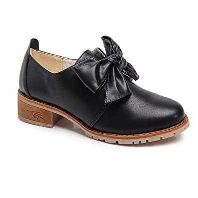Daytwork Zapatos Mujer Cuero - Mocasín Pisos Arco Mocasines Oxfords Acento irlandés Confortable Oficina Tacon bajo Zapato: Amazon.es: Zapatos y complementos