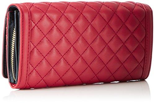Love Moschino - Portafogli Nappa Pu Trap.rosso, Carteras de mano Mujer, Rot (Red), 10x20x3 cm (W x H D)