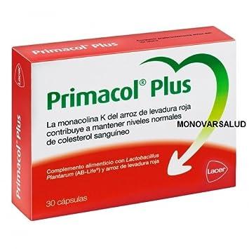 Primacol Plus - Complemento Alimenticio Para Mantener los Niveles De Colesterol, 30 cápsulas: Amazon.es: Belleza