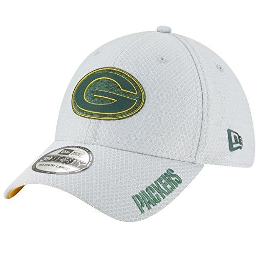 New Era Co Green Bay Packers 2018 NFL Gray Training Camp Official 39THIRTY Flex Hat (Medium/Large) (Green Bay Packer New Era Hat)