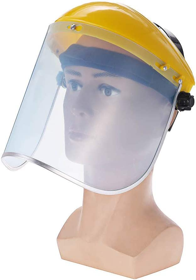 Sombrero Protector Facial para Cara de Seguridad de Protecci/ón Protecci/ón de Ojos Y Cabeza Sombrero de Pescador Pantalla de Protecci/ón de Cara de PVC