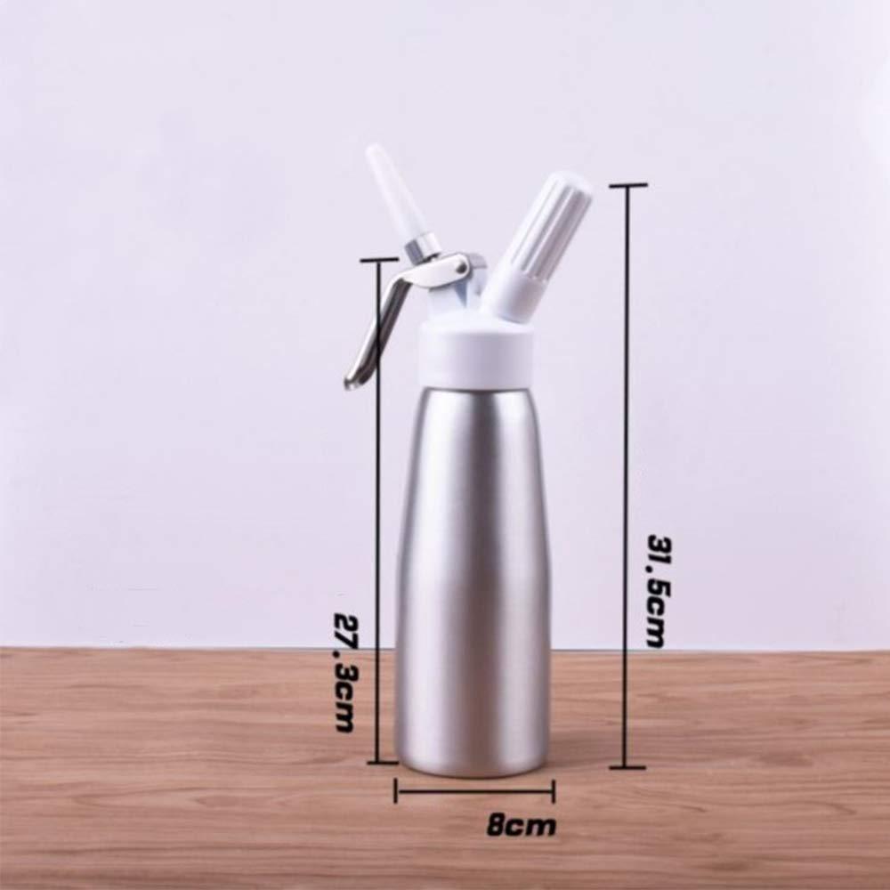 Compra Dispensador De Crema Batida De Aluminio DE 0.5 litros con 4 ...