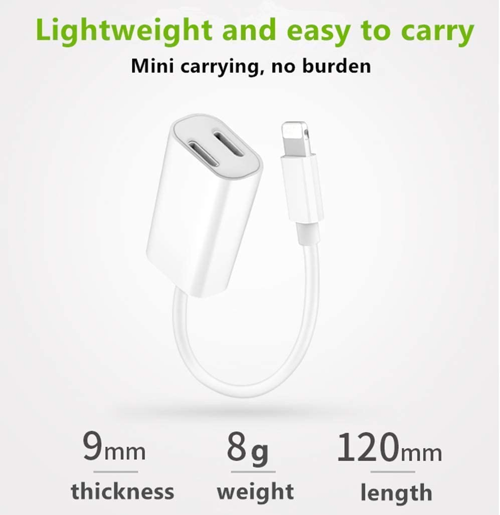 iPhone Headphone Adapter Car Charger Splitter Apple MFi Certified Lightning Headphone Jack Audio /& Charging Dongle Compatible iPhone 11 Pro//XS//XR//8//7 Plus Support iOS 13 12 Music Control /& Calling