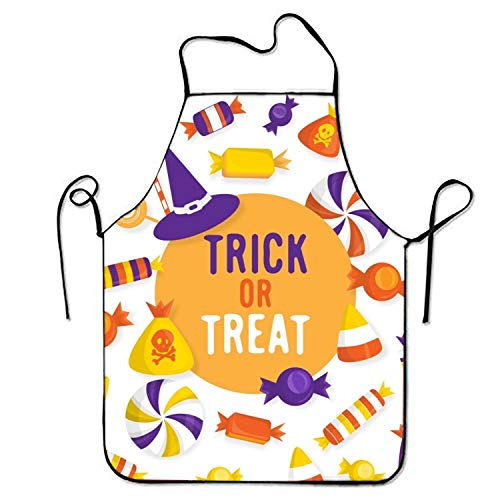 workessehwe FnLiu Personalized Halloween Candy Aprons Printed Apron for Home Men -