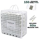Blocking Mats for Knitting - 9 Extra Thick Boards With 1 Inch Spaced Grid - For Needlepoint or Crochet - Includes 150 Stainless T-Pins and Convenient Storage Bag With Handles