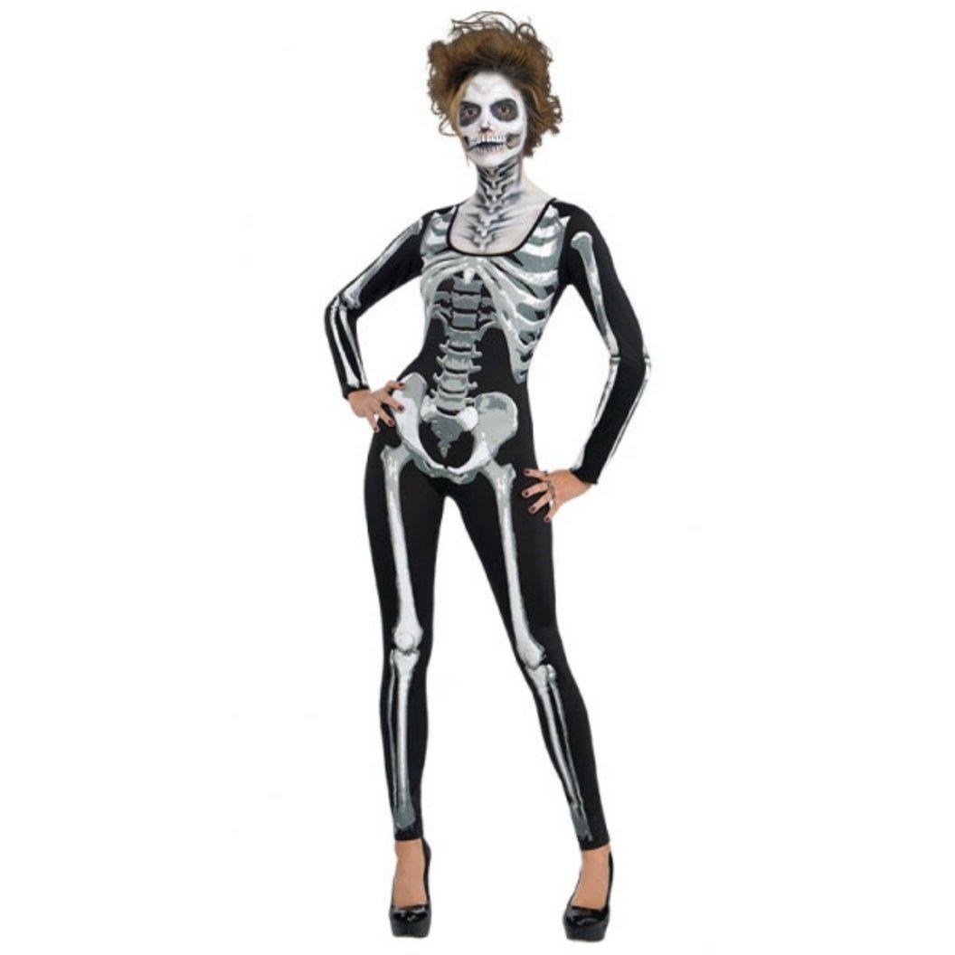 Amscan International Standard Erwachsene Kostüm Catsuit Skelett ...