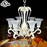 DECORAPORT Metal & Resin Built Classic Style 6-Light Pendant Light Chandelier/Diameter 29 Inch (CH0019-6C)
