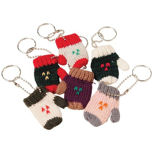 KNITTED MITTEN KEYCHAIN/6-PC, Sold By Case Pack Of 14 Packs (Keychain 14k)