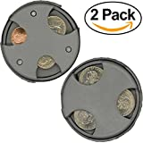 coin holder for car console - COIN MATE Pocket Organizer Change Holder - Great Gifts for Mens Wallet, Womens Purse, Double Sided Slots for U.S. Quarters, Dimes, Nickels, Pennies, Euros, 2017 Money Organizer for Car Travel
