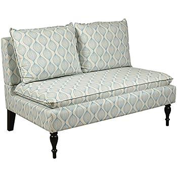 Pulaski Marcella Settee, Upholstered Pattern, Cream/Blue