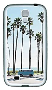 Beach Palm Tree And Vintage Bus Theme Samsung Galaxy i9500 S4 Case