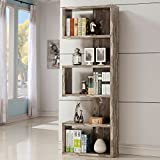 Coaster 800847-CO 5 Shelf Semi Backless Bookcase, Salvaged Cabin