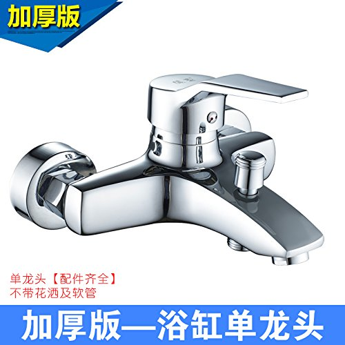 Extra Thick Single Faucet Hlluya Professional Sink Mixer Tap Kitchen Faucet To smell the water heater water mixing valve faucet hot and cold full copper bathtub faucet shower faucet bathroom flush, upgrade single Faucet