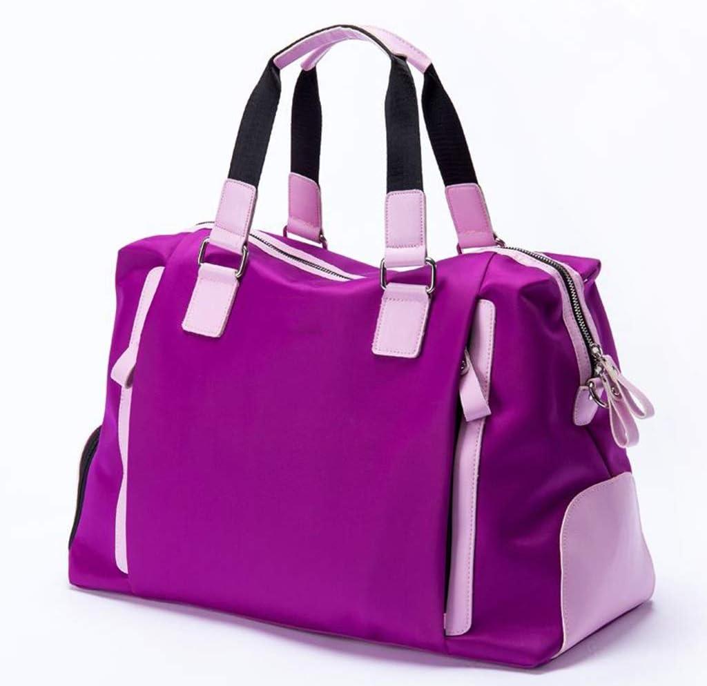 ゴルフウェアバッグ、レディーストラベルバッグ、防水素材、パープル happyL