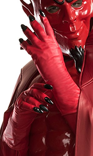 Red Queen Costume Makeup (Rubie's Costume Co. Men's Scream Queens Red Devil Gloves, As Shown, One Size)