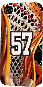 Baseball Sports Fan Player Number 57 Plastic Snap On Decorative iPhone 4/4s Case