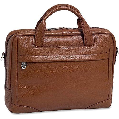 Leather Travel Computer Brief (McKleinUSA BRIDGEPORT 15474 Brown Leather Large Laptop Brief)