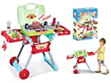 Childrens, Kids Toy BBQ, barbecue Set with sounds and light great Toy Set - RED