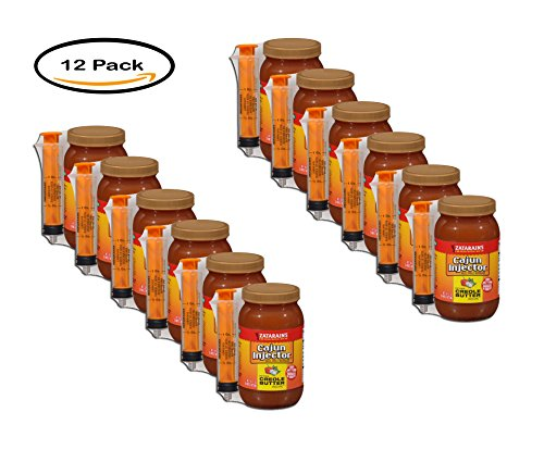 PACK OF 12 - Zatarain's Cajun Injector Creole Butter Recipe Injectable Marinade 16 fl. oz. (Marinade 16 Oz Jar)