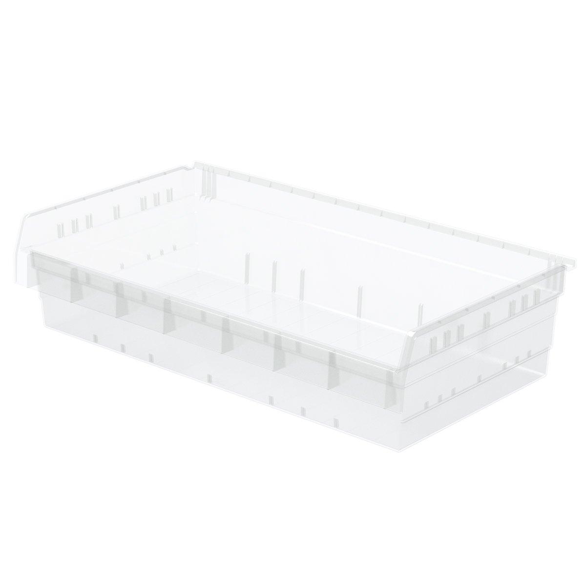 4-Pack Blue Akro-Mils 30838 ShelfMax 8 Plastic Nesting Shelf Bin Box 18-Inch x 33-Inch x 8-Inch