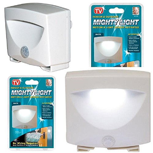 Indoor and Outdoor LED Motion and Light Sensor Activated - Wireless - Battery Powered - Night Light - Weatherproof - Easy to Install - Pack of 2