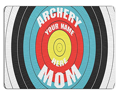 BRGiftShop Personalized Custom Archery Mom 11x15 Glass Cutting Board