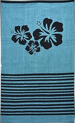 Casa Ydeal Store Toalla de Playa 100cm x 160cm Flores Hawaian (Azul)