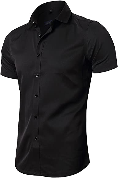 Mens Slim Fit Casual Button Down Shirts Short Sleeve Dress Shirts