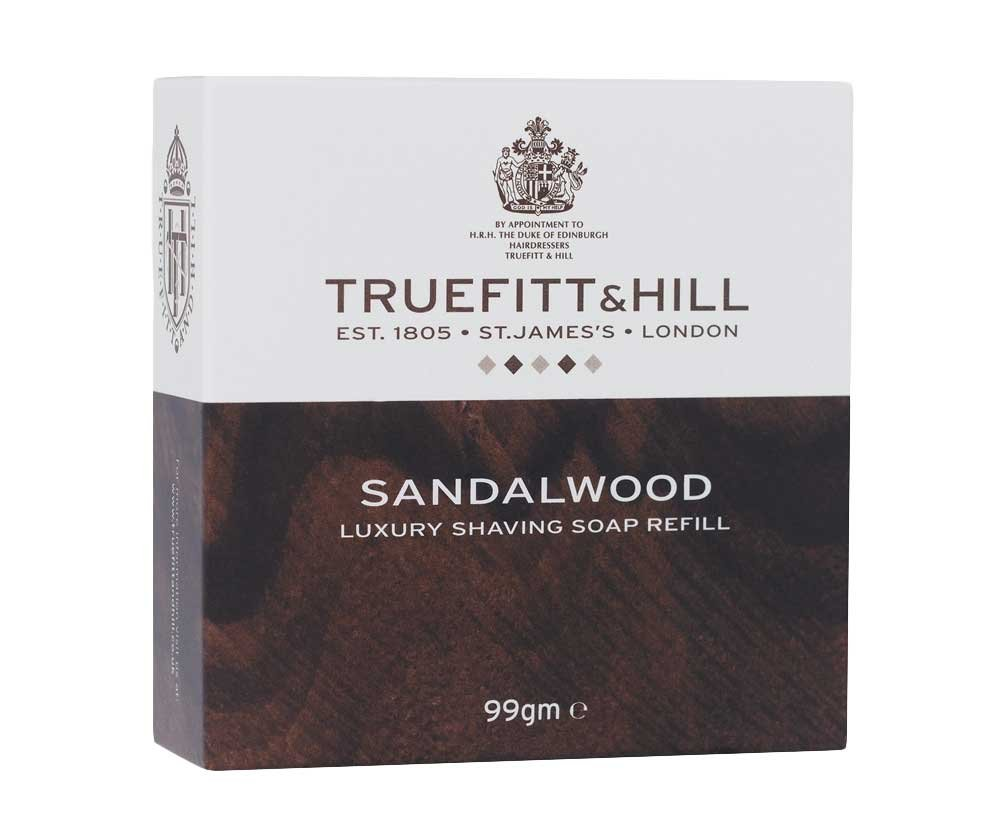 TrueFitt & Hill 99g Sandalwood Luxury Shaving Soap Refill 1807