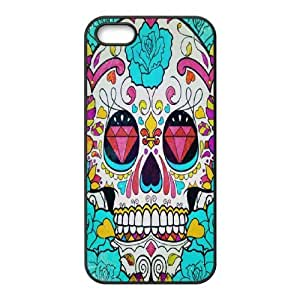 Artsy Skull Phone Case For iPhone 5,5S [Pattern-1]