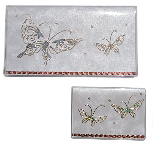 Butterfly w/ Red Trim 2 Year (2018-19) Calendar & Debit Card Holder with Notepad & Debit Register by WINGS Craft & Fundraising Supply