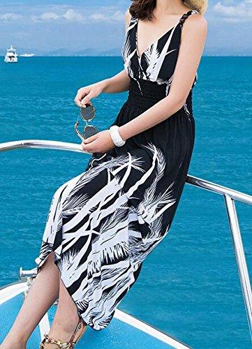 1 Jaycargogo Maxi s Women Strap Summer Dress Long Beach Sleeveless w4ZqTw7