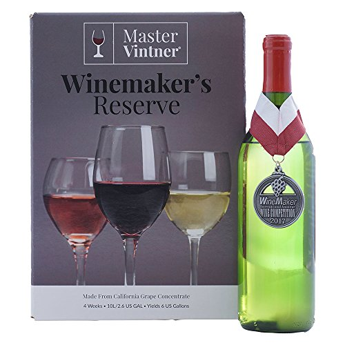 Chardonnay Kit - Master Vintner Winemaker's Reserve Wine Making Recipe Kits - Ingredients for making 6 gallons of Homemade Wine