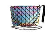 Procida Women Handbags Purse Shoulder Crossbody TPU Bag with Shiny Multi-colors Design for Girls and Ladies