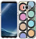 Galaxy S8 Plus Case/IWONE Protective Durable TPU Rubber Fashion Designer Compatible Cover Skin For Samsung Galaxy S8 Plus + Colorful Vintage Color Dyestuff Art