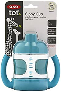 OXO Tot Sippy Cup with Removable Handles and Leakproof Valve (7 oz.) Aqua (Discontinued by Manufacturer)