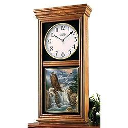 Oak Devotional Regulator Wall Clock Eagle by Rosemary Millette