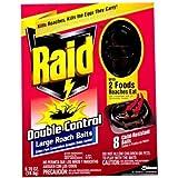 RAID ROACH BAIT LARGE DOUBLE CONTROL 8 CT PACKAGE