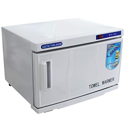 Esterilizadores Gabinete de toalla facial caliente UV de 16L, calentador de desinfección de esterilizador para