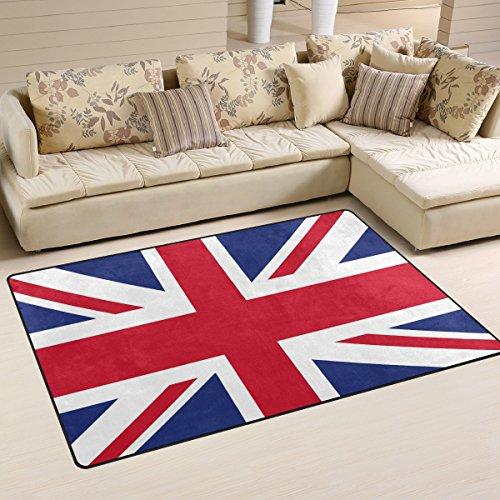 - WOZO UK Flag British Area Rug Rugs Non-Slip Floor Mat Doormats Living Room Bedroom 60 x 39 inches