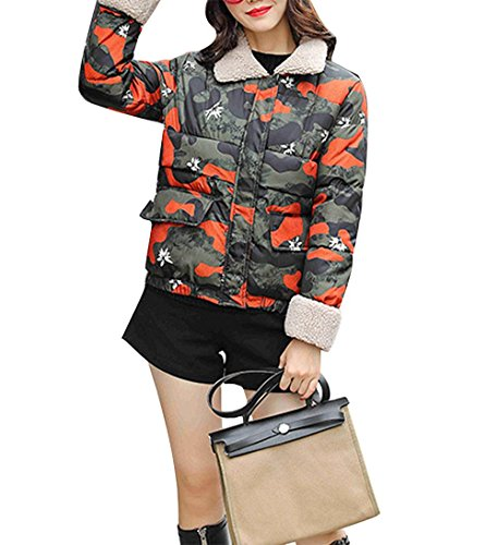 Down Jacket Jacket New Fashion Slim Ultra-Lightweight Loose Cotton Coat Thick Lapel Jacket Coat CAMOUFLAGE-XL