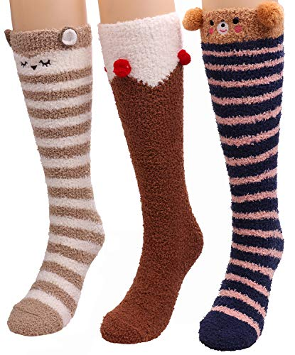 3107635c8 Women 3 Pairs Super Soft Winter Fuzzy Home Slipper Socks S33 ...