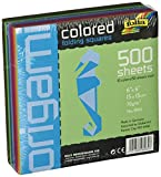 """School Specialty 411864 Origami Paper School Pack, 6"""" x 6"""", Assorted Colors (Pack of 500)"""