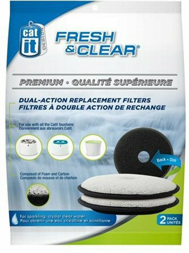 Catit Fresh & Clear Dual Action Replacement Filters (2 Filters) ()