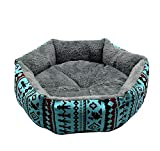 LIUHUA Soft Cat Bed and Cat Warm Bed and Plush Comfortable Nest and Kennel Blanket and Bed Sleeping Mat and Pet Supplies - Blue - S