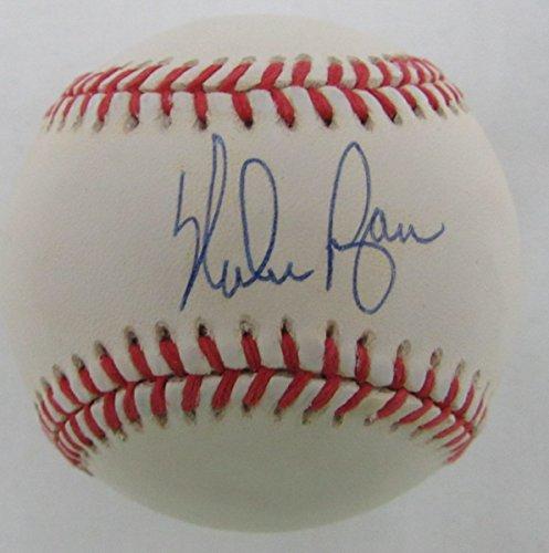 Nolan Ryan Texas Rangers/Astros/Mets/Angels Signed OAL Baseball JSA 136593