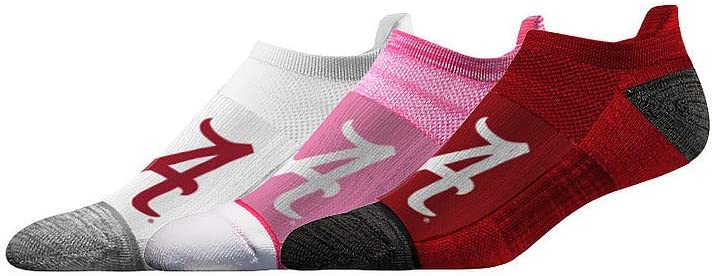 6 Total Socks Elite Fan Shop NCAA Womens No Show Sock 3-Pack