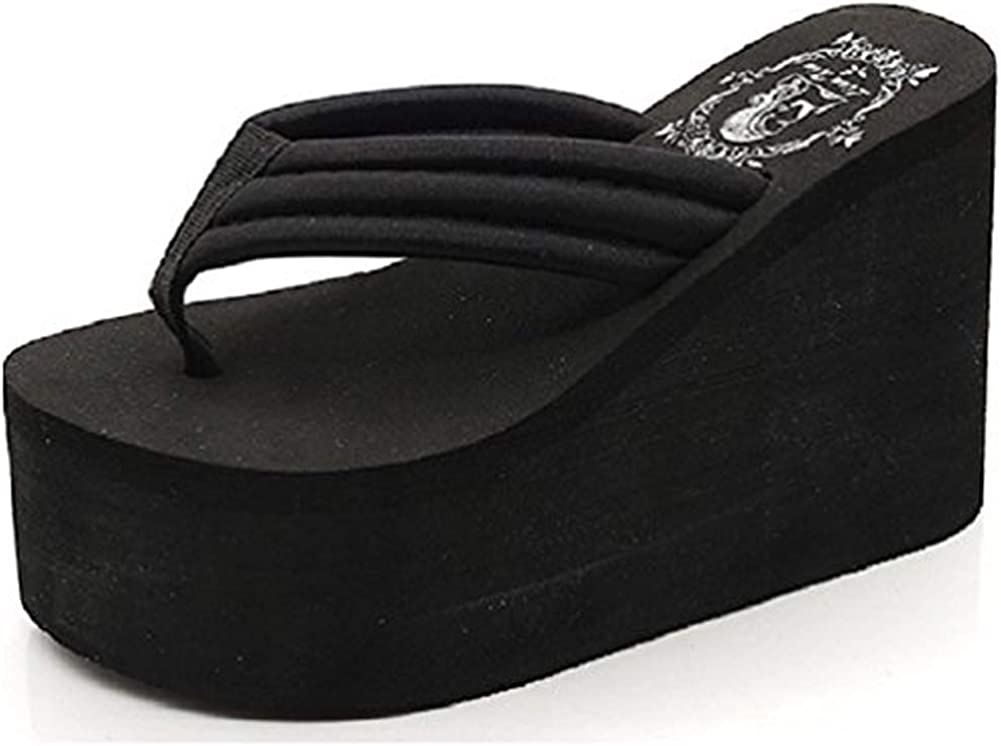 Details about  /Women Wedge High Heel Fashion Platform Chunky Slip Sandals Peep Toe Zhq03